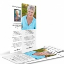 Photo Personalised Design Lamimated Memorial Bookmarks by Memorial Card Shop - BES06