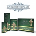 Gold Celtic Cross Catholic Irish Memorial Wallet Cards Ireland Themes by Memorial Card Shop  - CEL05