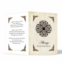 Celtic Style Catholic Irish Memorial Cards Ireland Themes by Memorial Card Shop Dublin  - CEL08