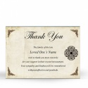Celtic Style Catholic Irish Memorial Thank You Notes Ireland Themes by Memorial Card Shop Dublin  - CEL08