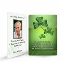 Irish Memorial Prayer Cards Ireland Shamrock Theme In Loving Memory Of  Personalised Photo - CEL25