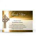 Traditional Celtic Catholic Irish Thank You Notes Online In Memoriam - CEL29