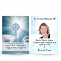 Catholic Celtic Cross Irish Funeral Memory cards In Remembrance Memorial Prayer Cards - CEL12
