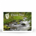 Custom Photo Memorial Funeral Thank You Cards Ireland Scenery with Irish Celtic Cross - CEL40