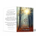 Customised Photo Memorial Bookmarks Ireland Scenery with Irish Celtic Cross - CEL41