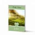 Irish Woodland Catholic & Celtic Laminated Irish Memory Folded Cards Personalised With Photo - CEL42