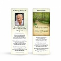 Ireland Country Woodland Catholic Remembrance Laminated Bookmark In Loving Memory Of Loved One - CEL47