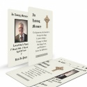 Traditional Celtic Irish Catholic Laminated Religious Funeral Memorial Prayer Cards Wallet -CEL51