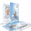 Memorial Card Ireland Theme with Dove & Celtic Tribute Wallet Cards CEL61