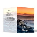 Irish Sunset Celtic Shamrock Laminated Irish Memory Folded Cards Personalised With Photo - CEL73
