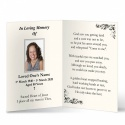 In Loving Memory and In Remembrance Laminated Irish Memorial Cards UK - CLS11