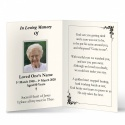 Traditional Classic Style Catholic Personalised Laminated Folded Memorial Card - CLS13