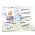 Gloss Laminated Folded In Memoriam Cards