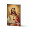 Sacred Heart Of Jesus Catholic In Loving Memory Laminated Folded Memorial Prayer Card - JC04
