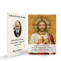 Sacred Heart Of Jesus Religious Catholic Funeral In Memorium Wallet Card - JC09