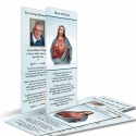 Sacred Heart Of Jesus Catholic In Loving Memory Customised Memorial Prayer Bookmark - JC15