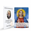 Sacred Heart Of Jesus Custom Memorial Prayer Laminated Prayer Wallet Card - JC16