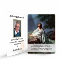 Jesus Christ Kneeling To God In Remembrance Laminated Memorial Prayer Wallet Cards Catholic - JC26