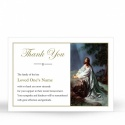 Jesus Christ Kneeling To God In Remembrance Laminated Memorial Prayer Thanks Cards Catholic - JC26