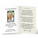 Jesus Mary Traditional Irish Personalised Laminated Folded Memorial Card - MAR46