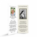 Blessed Virgin Mary Religious Catholic Irish In Memory Laminated Bookmark - MAR47