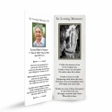 Our Blessed Lady Of Lourdes Catholic Irish Customised Memorial Bookmarks Laminated - MAR51