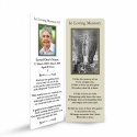 Our Blessed Lady Of Lourdes Catholic Irish Personalised Memorial Bookmarks Laminated - MAR51