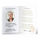 Blessed Virgin Mary Religious Catholic In Memoriam Laminated Folding Memorial Card - MAR03