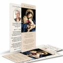 Blessed Virgin Mary & Jesus Catholic In Loving Memory Laminated Memorial Bookmark - MAR04
