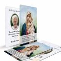 Catholic Laminated Memorial Wallet Prayer Card with Blessed Virgin Mary Jesus - MAR05