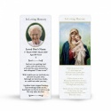 Catholic Laminated Memorial Bookmark with Blessed Virgin Mary Jesus - MAR05