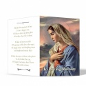 Our Lady Blessed Virgin Mary Religious Catholic In Memory Laminated Folding Memorial Card - MAR06