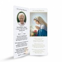 Religious Praying Virgin Mary In Remembrance Laminated Memorial Bookmarks UK - MAR07