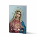 Sacred Heart Of Mary Religious Catholic Funeral In Memorium Cards - MAR09