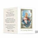 Blessed Virgin Mary & Jesus Catholic Personalised Laminated Folded Memorial Card - MAR13