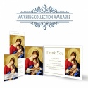 Blessed Virgin Mary & Jesus Traditional Irish Personalised Laminated Memorial Bookmark - MAR17