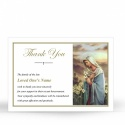 Religious Praying Virgin Mary In Remembrance Laminated Memorial Thanks Cards Catholic - MAR19