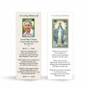 Our Lady Of Knock In Memoriam Laminated Memorial Bookmarks Catholic - MAR20