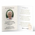 Baby Jesus Mary Traditional Irish Personalised Laminated Folded Memorial Card - MAR25