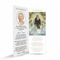 Catholic Custom Photo Memorial Bookmark with Blessed Virgin Mary Jesus - MAR29