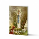 Our Blessed Lady Of Lourdes Catholic Irish Personalised Memorial Cards Laminated- MAR43