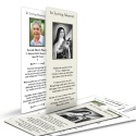 St Teresa Customised Laminated Memorial Bookmarks - ST18