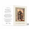 Saint Martin De Porres Catholic In Memorium Customised Folded Memorial Card - ST14