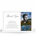 Personalised Bespoke Photo Design Lamimated Memorial Thank You Cards by Memorial Card Shop - BES04