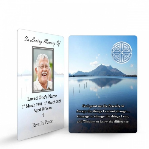 Celtic Knot Irish Memorial Wallet Card Ireland Themes by Memorial Card Shop  - CEL02