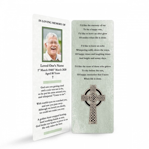 CEL12 Memorial Bookmark