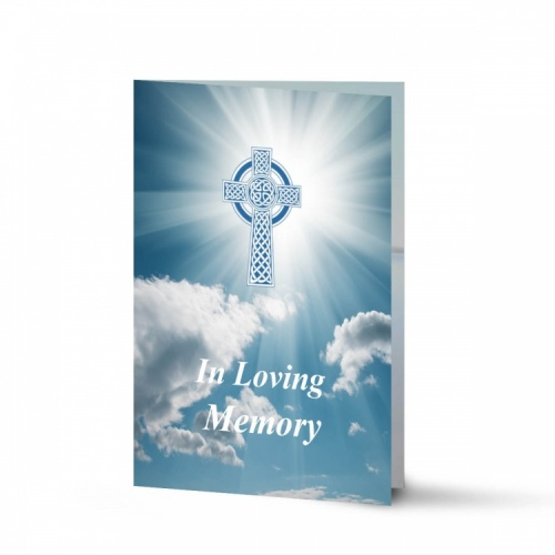 Catholic Celtic Cross Irish Funeral Memory Cards In Remembrance Folding Memorial Cards - CEL12