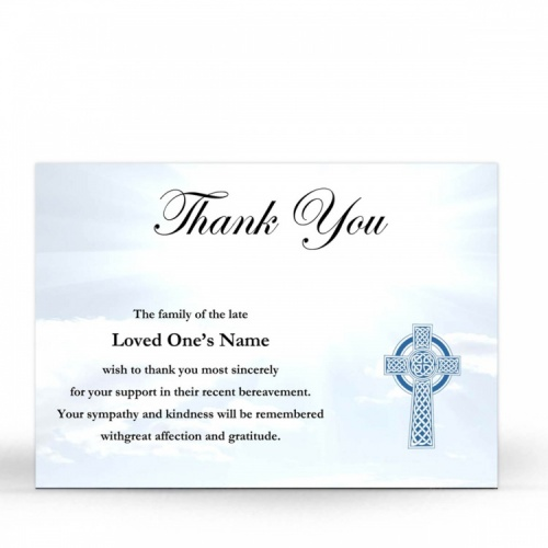 Catholic Celtic Cross Irish Funeral Memory Cards In Remembrance Memorial Funeral Notes - CEL12