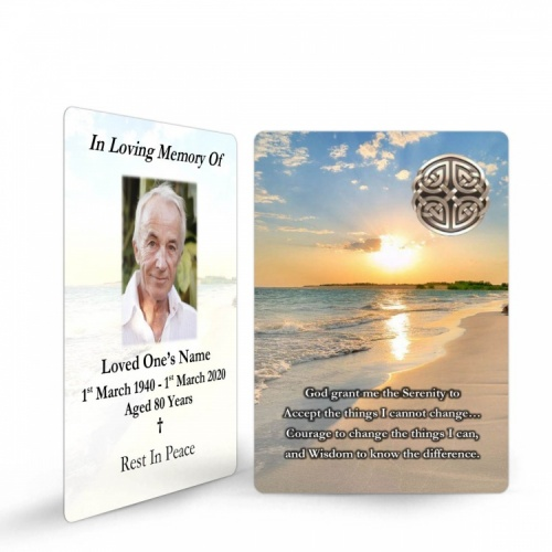 Sunset Ireland Celtic Design Irish Funeral Memory cards In Remembrance Memorial Prayer Cards - CEL32