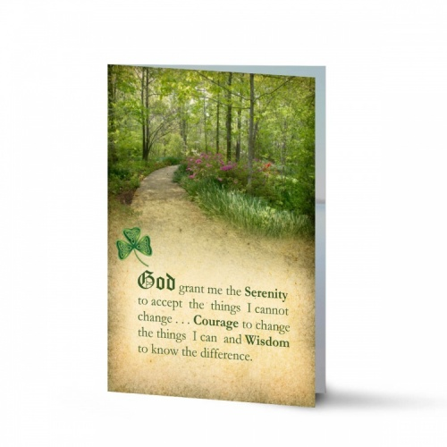 Ireland Country Woodland Catholic Remembrance Laminated Memorial Cards In Loving Memory Of Loved One - CEL47